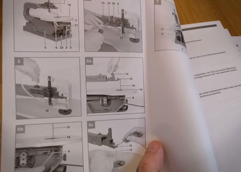 Dekupiersäge Einhell TC-SS 405 E - Anleitung